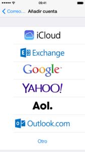 configuracion iphone